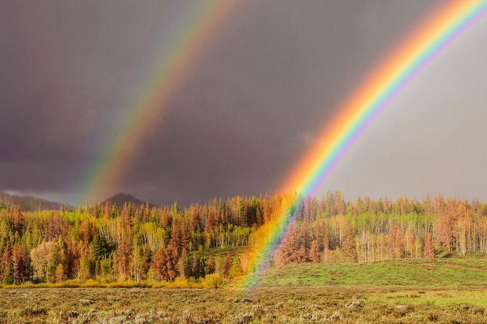 عکاسی از رنگین کمان