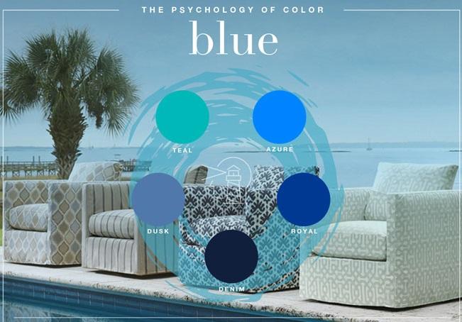 معنی رنگ آبی در طراحی لوگو
