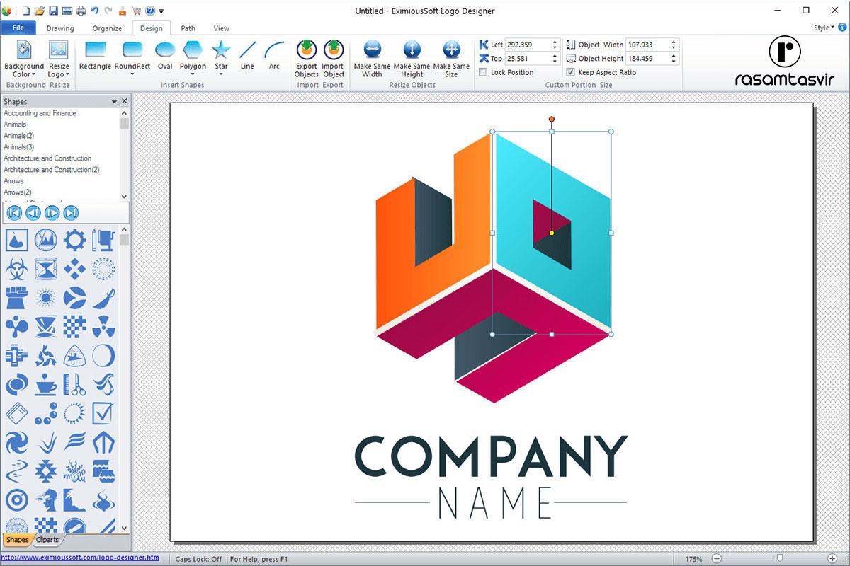نرم افزار طراحی لوگو EximiousSoft Logo Designer
