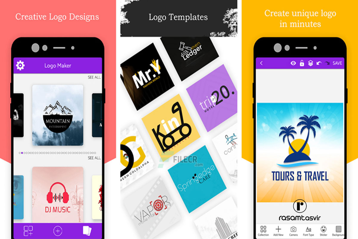 نرم افزار طراحی لوگو logo Maker, Logo Design, Graphic Design